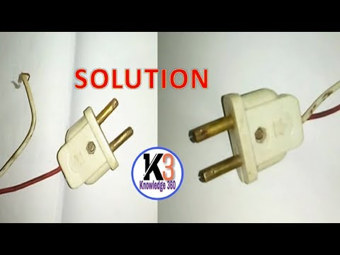 How To Fix Or Replace Broken Electrical Plug and Wire | Step By Step Process Explained Tutorial