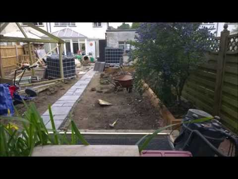 How To The Big Garden Make Over With Sleepers And IBC Water Butts Part Two