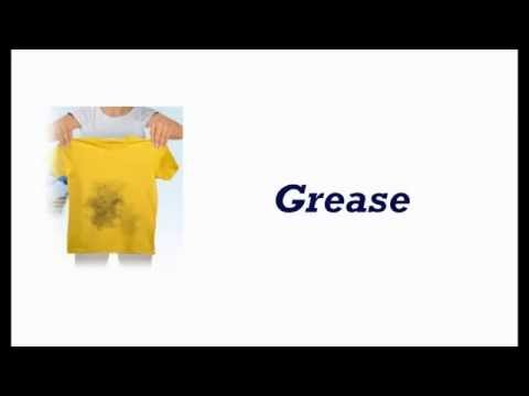 Grease stains remove on washable fabrics
