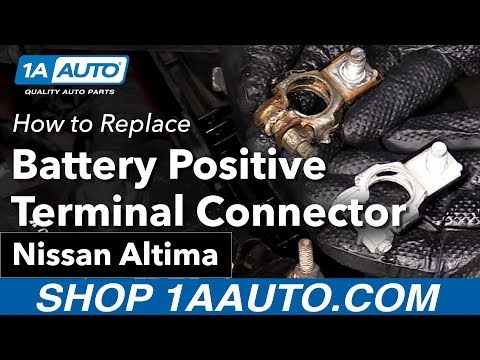 How to Replace Install Battery Positive Terminal Connector 05 Nissan Altima