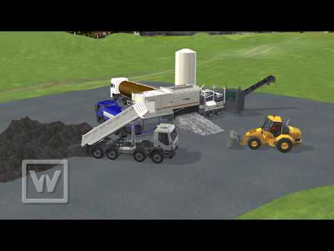 WIRTGEN GmbH┃Animation Cold Recycling Mixing Plant KMA220 KMA220i EN