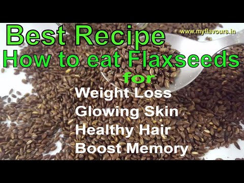 Flax Seeds Mukhwas/How to eat Flaxseeds अलसी for Weight Loss,Healthy Hair & Glowing Skin/FlaxSeeds
