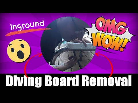 Inground Diving Board Removal Tutorial