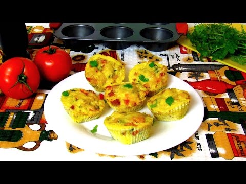 How To Make Chicken Egg Muffins - Mini Frittata – Quick Breakfast Ideas - Easy Homemade Recipe
