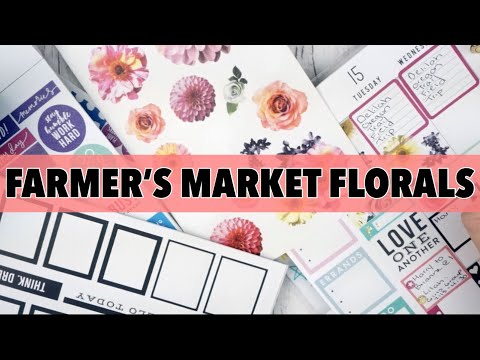 PLAN WITH ME FARMER'S MARKET FLORALS - THE HAPPY PLANNER | CLASSIC HAPPY PLANNER PWM MAY 14 - MAY 20