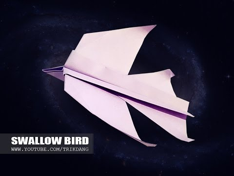 BIRD like PAPER AIRPLANE - How to make a Paper Bird that FLIES FAST | Swallow Bird