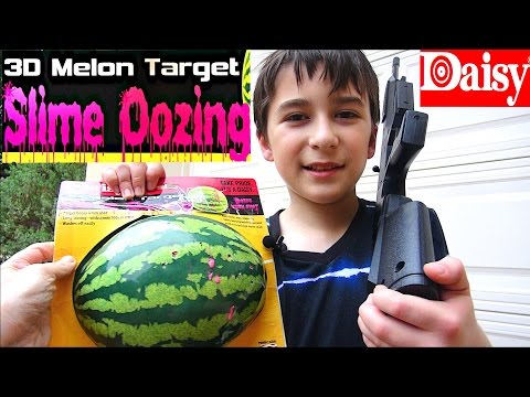 Daisy Oozing Melon Watermelon 3D Shooting Target  with Robert-Andre!