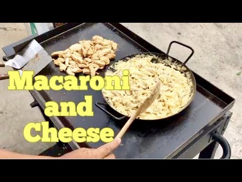 ♨️ How To Make Homemade Macaroni and Cheese With Teriyaki Chicken On A Blackstone Griddle