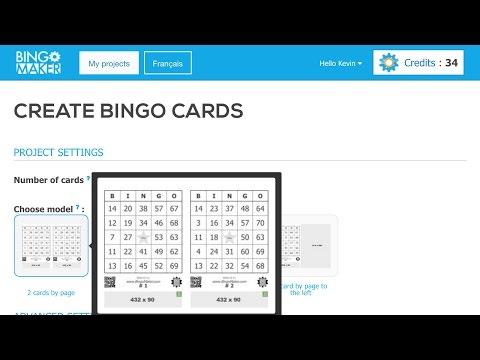 How to generate bingo cards with Bingo Maker