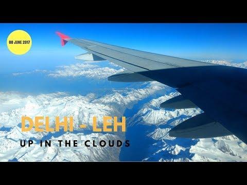 Flight from Delhi to Leh | Ladakh | June 2017 | Full HD 1080P