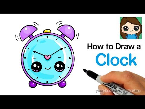 How to Draw an Alarm Clock Easy and Cute