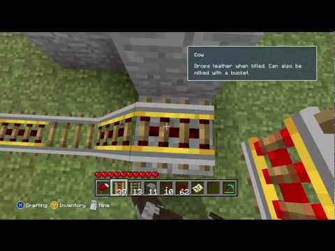 Minecraft: Xbox 360 Edition   How to Build a Booster Rail for a Roller Coaster