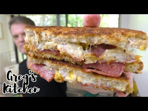 Salami And Pickle Grilled Cheese Sandwich