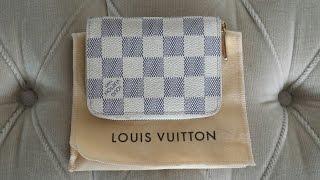 c5326781472a Wear   Tear - Louis Vuitton Zippy Coin Purse in Damier Azur - 7 year update