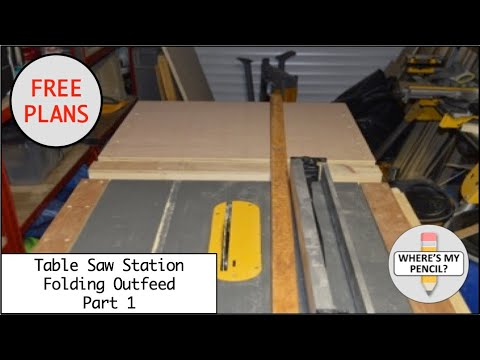 Mobile Table Saw Station - Folding Outfeed Table - Part 1