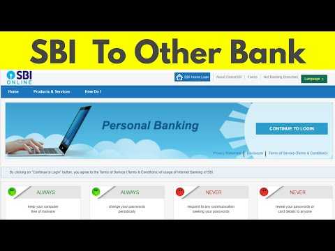 How to transfer/send money from sbi to other bank account through internet banking
