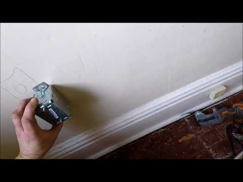 cutting electric box into lath and plaster