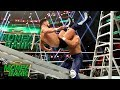 Andrade powerbombs Finn Bálor onto a ladder: WWE Money in the Bank 2019