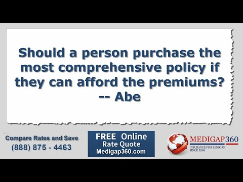 Medicare Coverage: Should You Buy the Best Policy You Can Afford?