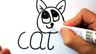 How to draw a Cat Easy Video Lesson Step By step_For Kids__Painter-Ehedov Elnur