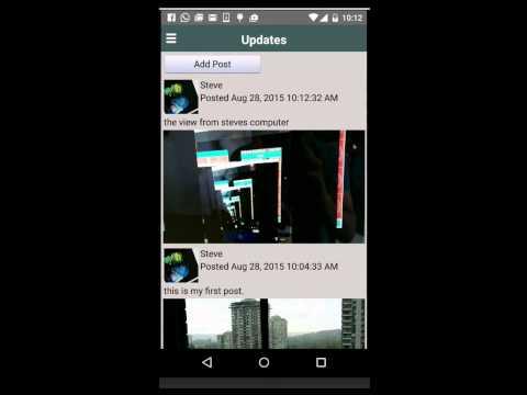 social network parse demo screencast