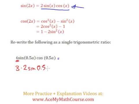 Double Angle Identities (Trigonometry) - Question #3