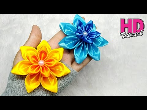 182) DIY Ribbon Flower | Beautiful Ribbon Craft Ideas