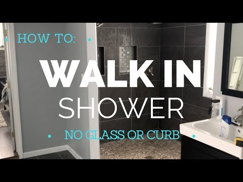 How to Build a Walk In Shower - Curbless - Durock Shower