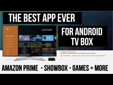 The Best APP for Android TV BOX - 1 Click Install -  Amazon Prime, Games + MORE