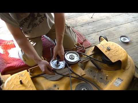 Cub Cadet LTX1050 (Bad Idler Pulley) and Spring tip trick!