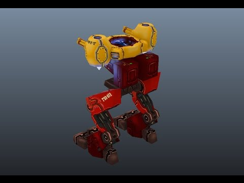 Rigging And Animating Robot Mech for