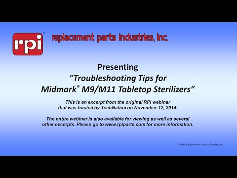 Troubleshooting Tips for Midmark® M9 & M11 Tabletop Sterilizers