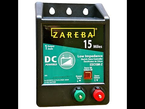 Zareba DC powered electric fence install to protect beehives.