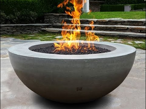 How To Make Tabletop Concrete Fire Bowl