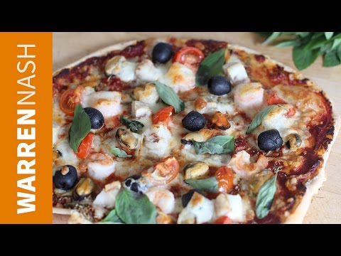 Seafood Pizza Recipe - Fresh & Healthy flavours - Recipes by Warren Nash