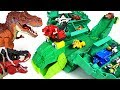 Terrible Dinosaurs Appeared Dinotrux Stego Storage Garby Transform Track Playset Go DuDuPopTOY