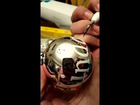 How to cut, weed and apply vinyl to ornaments