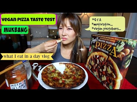 AMY'S NO CHEESE PIZZA (what I eat in a day #2) MUKBANG
