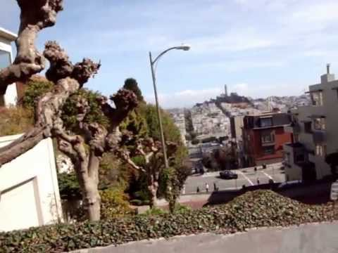 Driving Down Lombard Street - San Francisco