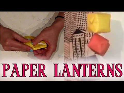 How to make origami paper lanterns. Easy craft!