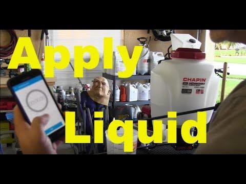 Liquid Pre-Emergent, Chapin Battery Sprayer Bucket Testing