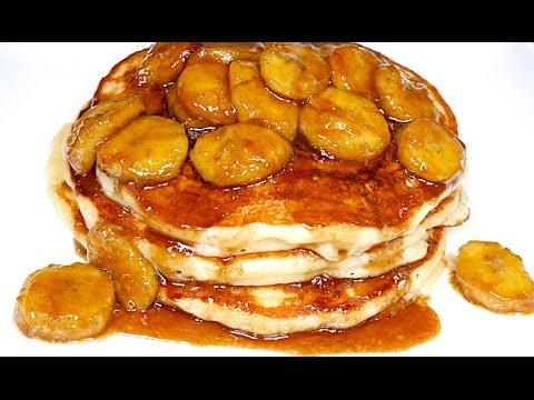 Pancakes with Caramelized Bananas Recipe