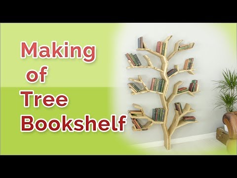 building a tree bookshelf in easy way