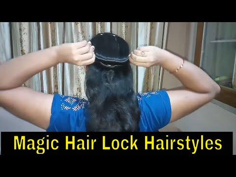 *1 min easy cute bun* with magic hair lock/9 Easy Bun Hairstyles for Long hair/One minute Hairstyles