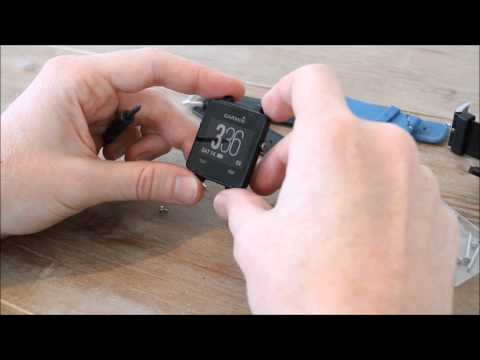 Garmin Vivoactive leather wristband, and changing bands