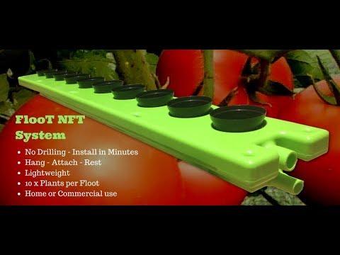 FLooT NFT Hydroponics & aquaponics plant grow channel