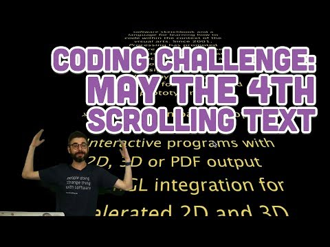 Coding Challenge #101: May the 4th Scrolling Text