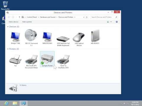 Windows 8.0 Professional - Rename a Printer