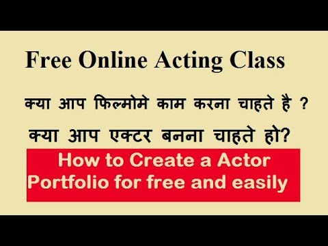 free best acting tips how to Create film actor Portfolio talented Actor and actress (actor profile)
