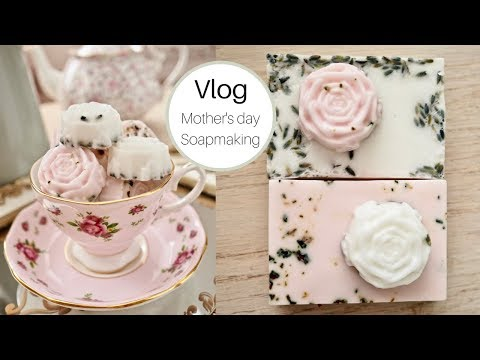 Vlog | How to Make Rose Scented Soaps, Mothers day DIY